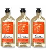 Bath & Body Works Aromatherapy Energy Orange Ginger 3 Pc Body Wash Set - $30.84