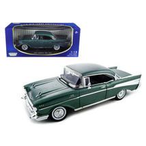1957 Chevrolet Bel Air Hard Top Green 1/18 Diecast Model Car by Motormax... - $61.11