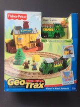 Fisher Price Geo Trax Train Chop N Haul Sawmill Set L3135 Stumpy Miter Team RARE - $75.73