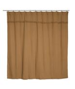 Natural Burlap Vhc shower curtain farmhouse rustic Bath Decor - $44.54