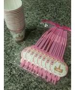 Unicorn Lashes Birthday Party 16 Cups & 16 Straws New Unopened Girls Pin... - $7.91