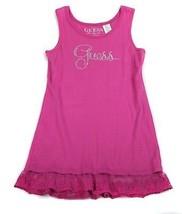 GUESS Purple Dress Rhinestones Lace Cotton Beach L Girls Pink 12 14 - $14.84