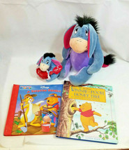 "12"" Plush EEYORE Lot Disney Store Exclusive Light up Toy + Winnie the po... - $24.50"