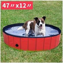 Foldable Dog Pet Bath Pool Large Dog Pool Bathing Tub Kiddie Pool for Do... - $39.85
