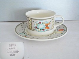 Mikasa Intaglio Summer Jewels Cup & Saucer - $12.86