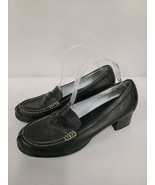 Tommy Hilfiger Women's Shoes Size 10M Black Leather Block High Heel Loafers - $39.99
