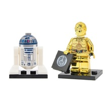 2pcs C3PO with R2D2 in Star Wars Mini figure Building Blocks Lego Toys - $5.99