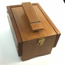 Vintage Wooden Shoe Valet Groomer Box Only Empty No Products Inside - $11.26