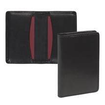 Regal Leather Business Card Holder Holds 25 Cards Black - $15.55