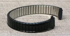 """10-13mm Speidel Twist-O-Flex Black Coating """"Croco"""" Style  Stretch Watch ... - $12.30"""
