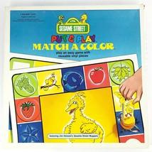 Vintage 1981 Sesame Street Match a Color PreSchool Educational Game - $19.54