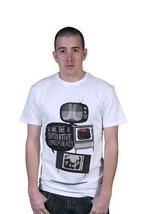 WeSC We Are The Superlative Conspiracy Herren Weiß Fernseher TV Noise T-Shirt NW