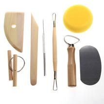 Clay Sculpting Pottery Tool 8 Pcs Set Wax Ceramics Carving Molding Tools... - $10.30