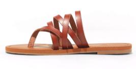 NEW Universal Thread Women's Cognac Maritza Multi Strap Toe Slide Sandals image 2