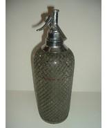 Sparklets New York Seltzer Bottle Glass with Wire Mesh Czechoslovakia - $59.99