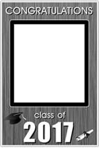 Class of 2017 Graduation Party Silver Social Media Selfie Frame Photo Pr... - £12.38 GBP