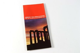 Vintage 1968 Greece The Apollo Coast Island the Saronic Gulf Brochure Pa... - $8.99
