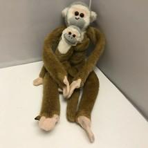 Wild Republic Brown Squirrel Monkey with Baby Hanging Plush Stuffed Animal Toy 2 - $49.99