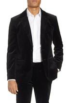 NEW $575 FRAME NOIR BLACK SLIM FIT STRETCH VELVET BLAZER JACKET SIZE M - $197.99