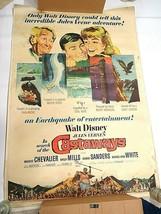 "Vintage Original 1962 Disney In Search of the Castaways Movie Poster 40""... - $495.00"