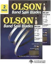"Olson Band Saw Blades 99-3/4"" inch x 1/4"", 6 TPI, Craftsman 22401, Rikon... - $34.99"