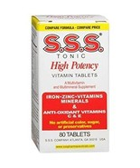 S. S . S. Tonic Vitamins and Minerals 80 Tablets - $17.33