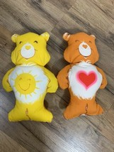 Vintage Care Bears Hand Sewn Pillow Plush Doll Sunshine Funshine heart - $23.76