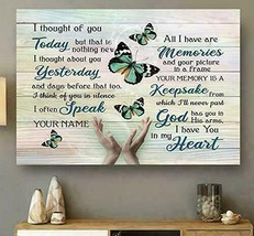 AwesApparel Butterfly I Thought Of You Today Poster No Frame - $18.86+