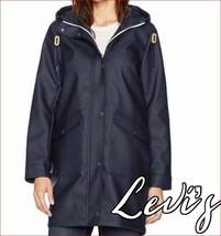 new Levi's women jacket coat hooded LW8RU669 navy sz s - $57.70