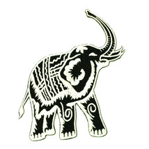 "Thai Elephant Iron On Patch Big Animal Embroidery 4"" Thailand Patchwork ... - $6.47"