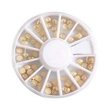 Set of 5 Wonderful Acrylic Glitter Rhinestones Manicure BEIGE Beads for Nail Art