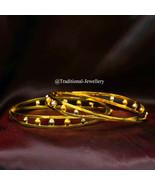 AUTHENTIC YELLOW GOLD 22K HANDMADE WOMEN LADY BANGLE BRACELET GOLD JEWELRY - $2,216.21+