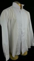 Gerald Austin Tuxedo Shirt 34/35 White Long Sleeve Formal Polyester Blend - $17.75
