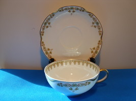 Theodore Haviland white porcelain cup and saucer Schieger pattern 771-a. - $25.00