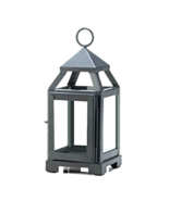 "Black Mini Contemporary Lantern 8.75"" H - $18.25"