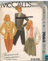 7663 UNCUT McCalls Sewing Pattern Misses Lined Buttoned Cardigan Jacket ... - $4.89
