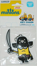Minions Movie Minion Kevin as a Pirate Rubber Keychain, LICENSED NEW UNUSED - $6.89