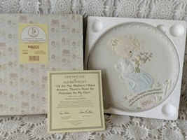 Enesco Precious Moments Collectors Plate 1996 Mothers Day Series With COA - $14.54