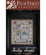 Heritage Sampler cross stitch chart Plum Street Samplers  - $16.20