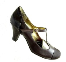 Kenneth Cole Reaction Wms sz 8 M Heels Mary Jane Shoes Brown Patent Pumps  - $17.60