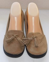 Big Buddha Britt Taupe Fabric Women's Loafers Shoes Size: 7 1/2 M