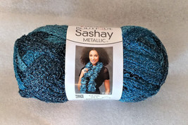 Red Heart Sashay Metallic Yarn ~ Aquamarine ~ 3 Oz. - 30 Yards - $4.46