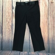 BANANA REPUBLIC Women's Wool Black Pants Size 6 The Logan fit stretch - $32.05