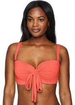 NWT Coco Reef Swimsuit Bikini Top Bra 32/34C Black 5 Way Bra Tangerine - $28.91
