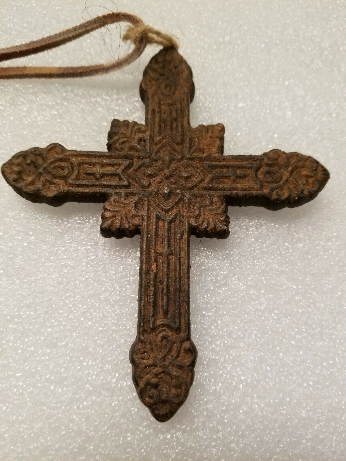 Primary image for Vintage Antique Religious Rusty Cross Necklace