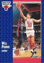 Will Perdue ~ 1991-92 Fleer #32 ~ Bulls - $0.05