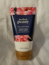 Bath & Body Works Creamy Petal Body Scrub with essential oils PERFECT PEONY 8 oz - $24.99