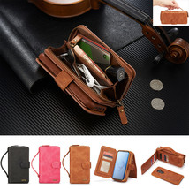 Portable Removable Leather Wallet Case For Samsung Note 10+ 9 8 5 S9+ S10 S7 S8 - $91.39