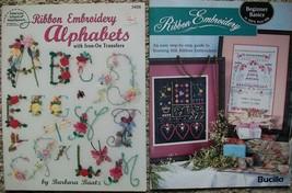 Silk Ribbon Embroidery Alphabets Iron on Transfers Barbara Baatz Pattern... - $12.38