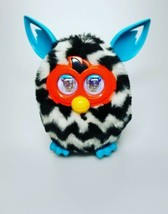 Furby Boom 2012 Hasbro Black White Zig Zag Striped CLEAN and WORKS GREAT... - $20.99